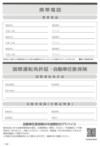 P.18 国際運転免許証・自動車任意保険